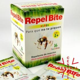 Repel Bite toallitas repelente de insectos niños 2+ Esteve
