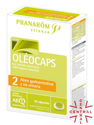 Pranarom oleocaps Nº2 Alivio gastrointestinal/vía urinaria