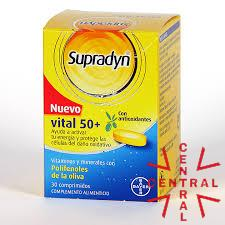 SUPPRADYN vital 50+ antioxidantes 30 comp Bayer