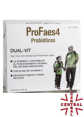 DUAL VIT  vitamina C + probióticos 30 sticks 1500mg Faes