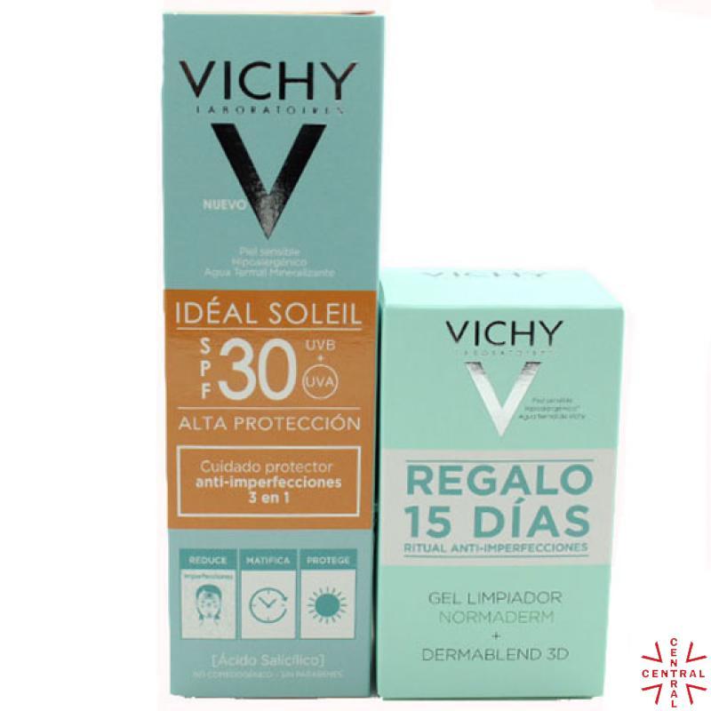VICHY IS antiinperfecciones color SPF 50 50ML+gel limpiador normaderm