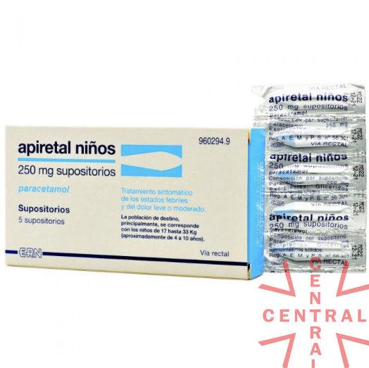 Paracetamol supositorios